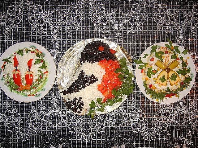 Салатики с фото на рождество