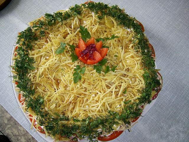 Рецепт салата блондинка с фото