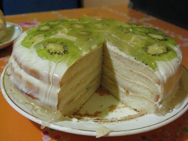 Торт с киви и бананом рецепт пошагово в домашних условиях