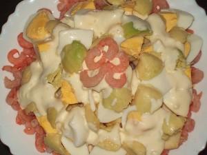 Морской салат с авокадо