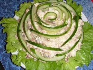 Салат с шампиньйонами