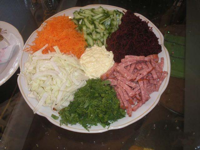 салат радуга из курицы рецепт
