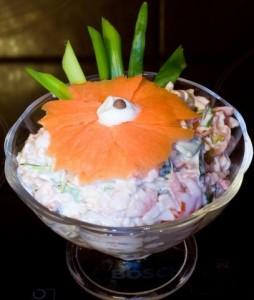 Креветочный салат-коктейль
