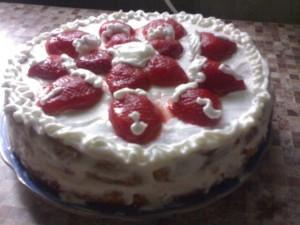 Сливочно - творожный тортик