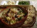 Рис с грибами и красной фасолью