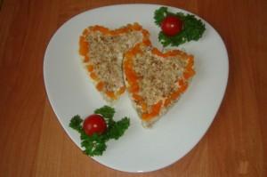 Салат Оранжевое сердце