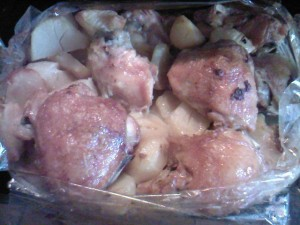 "Курица с картофелем в ""рукаве"""