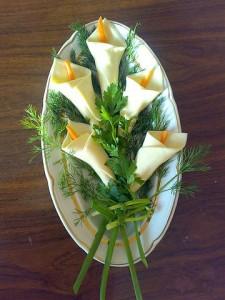 Салатик в цветочках