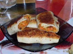 Блинчики с курагой и морковью