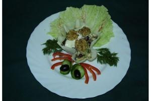 Салат в корзиночке