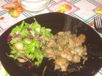 Жареная куриная печенка с луком и специями