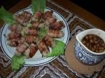 Рулады из фарша с яблочно-винным соусом
