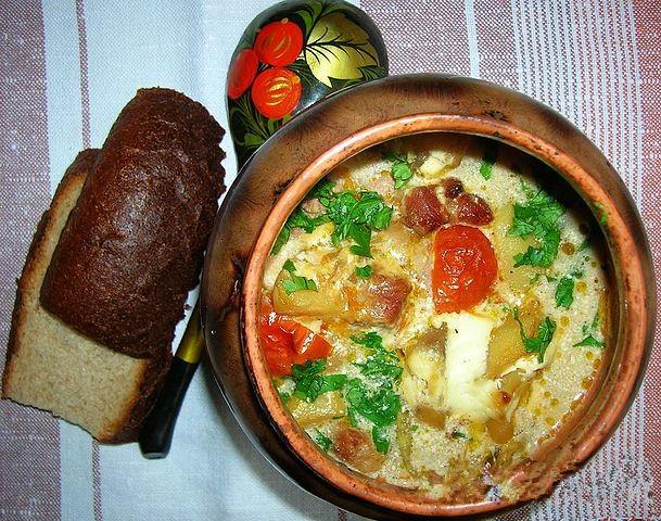 Мясо в горшочках с овощами в духовке пошаговый