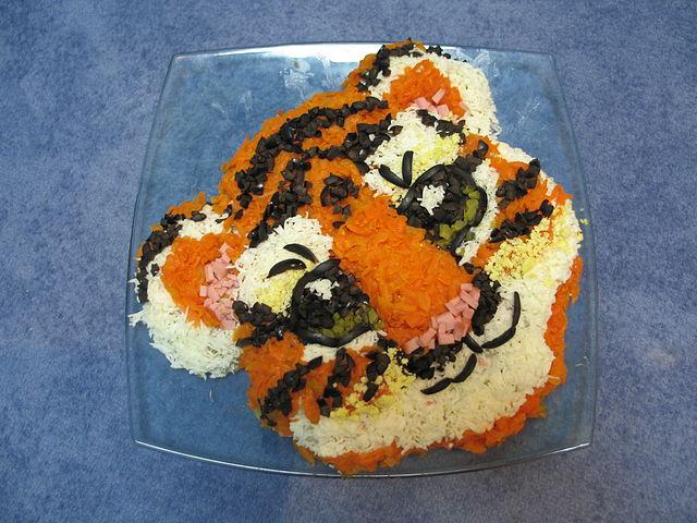 Салаты на год тигра фото