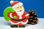 Печенье «Дед Мороз с мешком подарков»