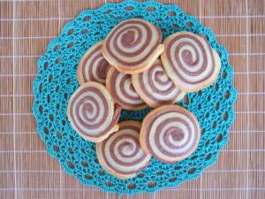 Песочное печенье «Двухцветная спираль»