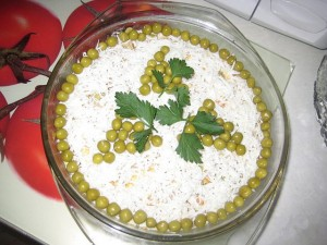 Печёночный салатик