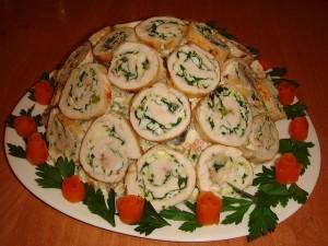 Салат с грибами