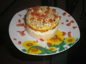 Слоеный салатик порционный Каприз