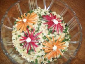 Салат с курицей и грушами