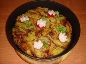 Картофельный пай с маслятами