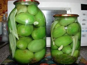 Маринованные зелёные помидоры
