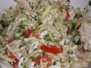 Салатик с китайской капусты