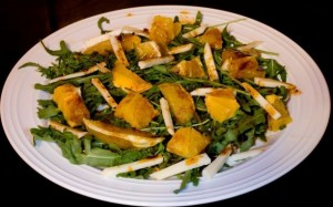 Салат из рукколы с апельсином