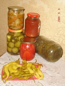 Перец в масле по-еревански