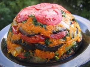 Торт из овощей