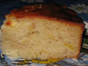 Кекс с яблоками на майонезе