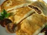 Блинчики-пирожки с грибами и луком
