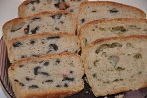 Чиабатта с оливками или зелёным луком