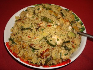 Turkey & courgette couscous salad