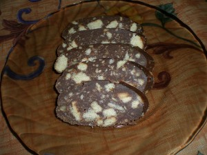 Шоколадная колбаска