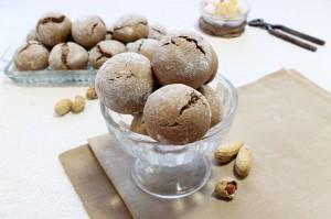 Шоколадно-кофейное печенье с арахисом