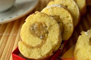 Бисквитные пирожные «Банан + киви»