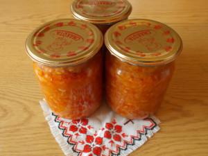 Салат с болгарским перцем и рисом на зиму