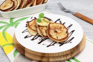 Оладьи с бананом и шоколадом